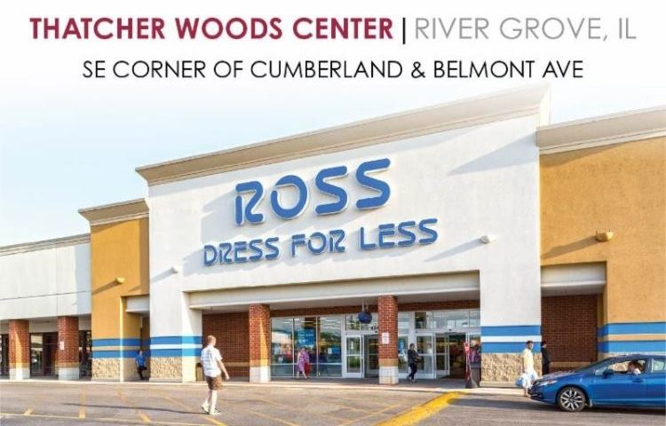 Exterior view of Ross Dress For Less store at Thatcher Woods shopping center