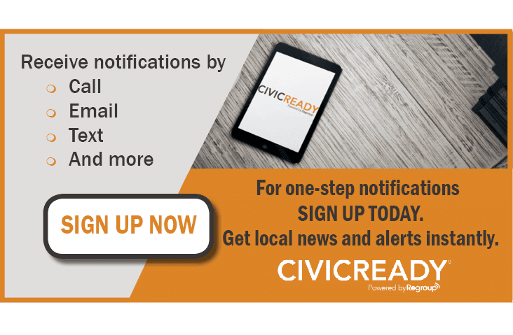 CivicReady signup flyer
