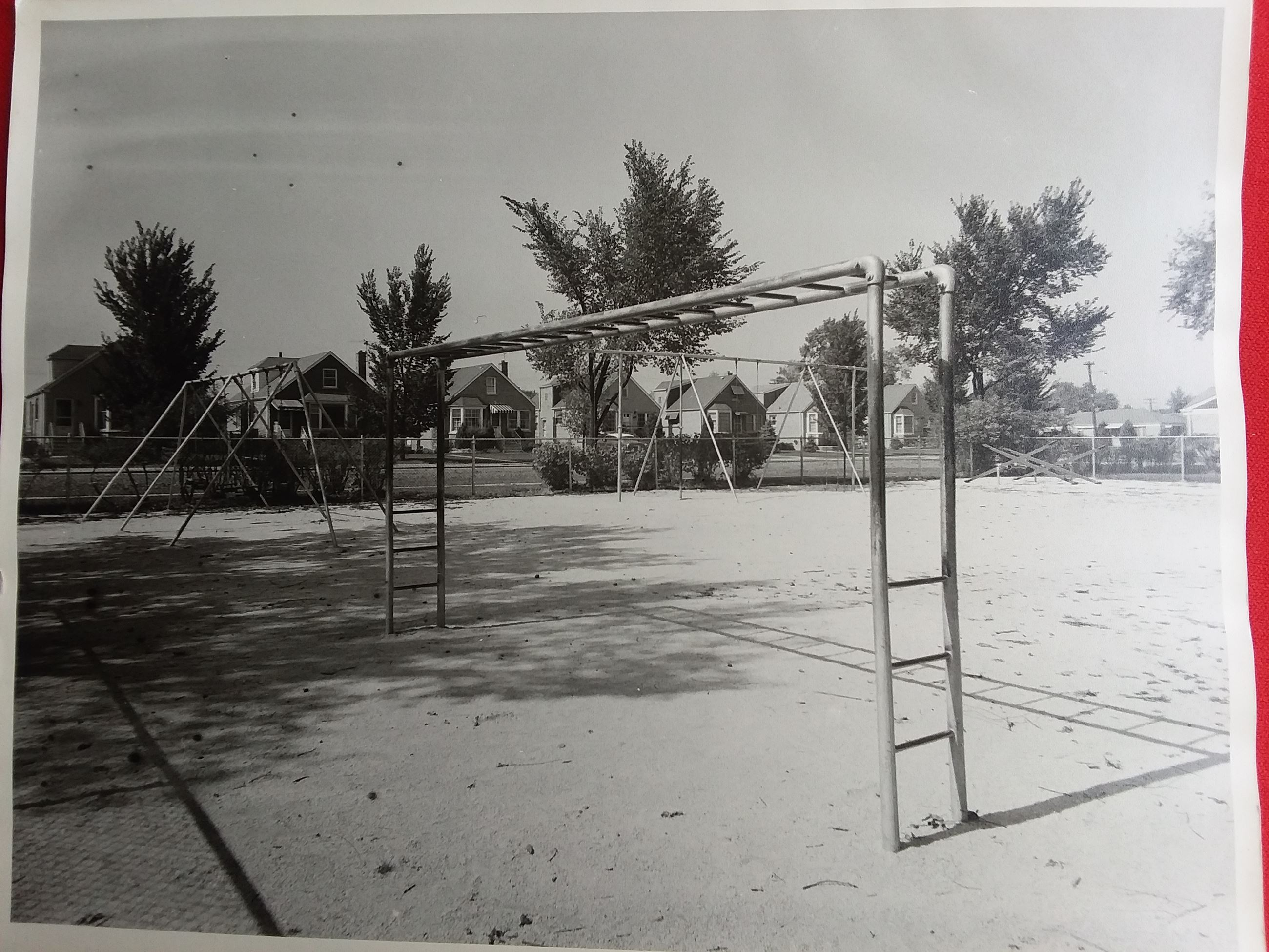 Looking northwest from the Trumbull Park playground in the 1960's
