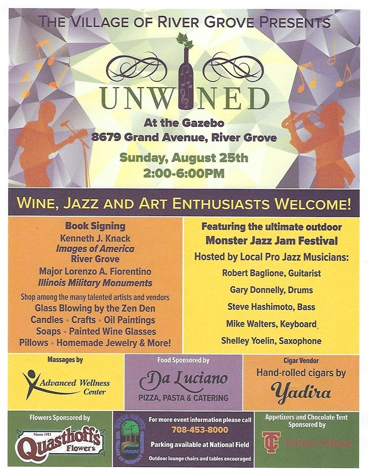 Flyer with information about the upcoming Unwined festival